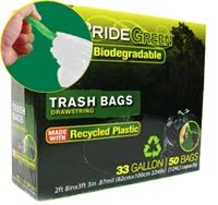 33-Gallon Drawstring PrideGreen� Biodegradable Trash Bags