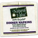 Natural Value™ White 100% Recycled Dinner Napkins
