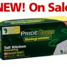 13-Gallon Drawstring PrideGreen™ Biodegradable Tall Kitchen Bags — 15-ct. Box