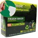 33-Gallon Drawstring PrideGreen™ Biodegradable Trash Bags