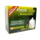 45-50 Gallon Heavy Duty PrideGreen™ Biodegradable Trash Bags with Ties