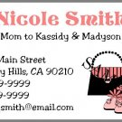Personalized Mommy Calling Cards - Handbag & Shoes