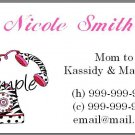 Personalized Mommy Calling Cards - Telephone