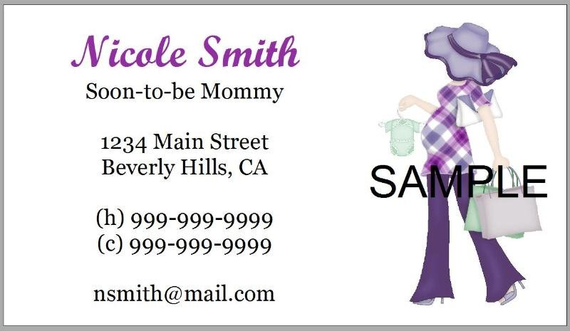 Personalized Mommy Calling Cards - Maternity Moms