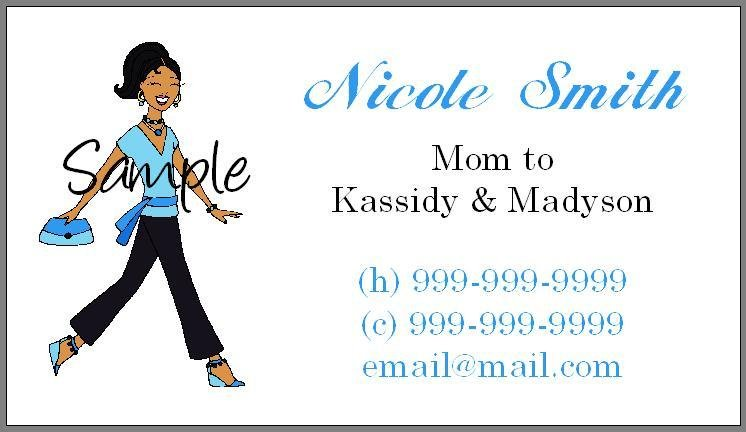 Personalized Mommy Calling Cards - Stylish Mom