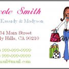 Personalized Mommy Calling Cards - Shopping Mom