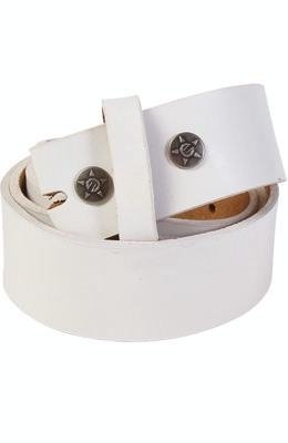 One Size Unit Riders MX Wagyu White Leather Mens Belt Strap