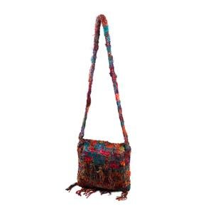 Crochet Silk Baba bag with fringe Medium