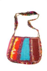 Hemp & Silk Three Patch Shoulder Bag