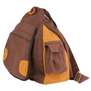 Triangle Cotton Backpack - Brown
