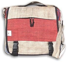 Hemp Document Bag - Large - Red