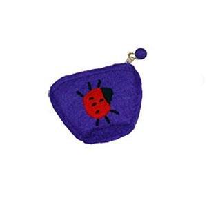 Purple Felt Purse with Lady Bug