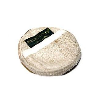 Hemp Coin Purse -Medium, Round, Natural