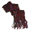 Pure Recycled Silk Shawl Rainbow Red
