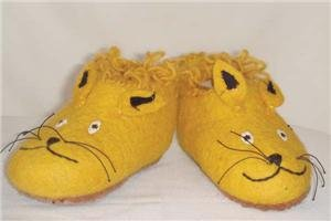 Children's Slippers - Mouse Yellow