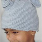 kids crochet cap elephant half fleece line