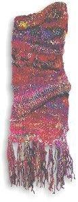 Recycled Silk Scarf (Short) Fucia