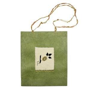 Natural handmade paper gift bag: Nest