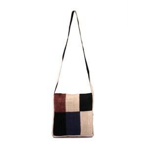 Hemp Patch Shoulder Bag w/ Flap