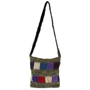 Patchwork Hemp Shoulder Bag