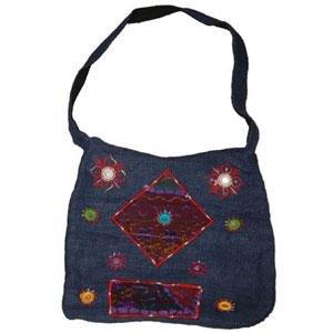 Hemp & Corduroy Handbag - Blue
