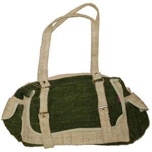Hemp Handbag - Olive & Natural w/Org Cotton Lining