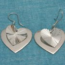 Sterling Silver Heart Dangle Earrings .925 From Taxco, Mexico