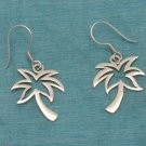 Sterling Silver Palm Tree Dangle Earrings .925 From Taxco, Mexico
