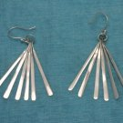 Sterling Silver Long Dangle Earrings .925 From Taxco, Mexico