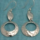 Mexican Sterling Silver Dangle Cirlce Earrings Taxco MX