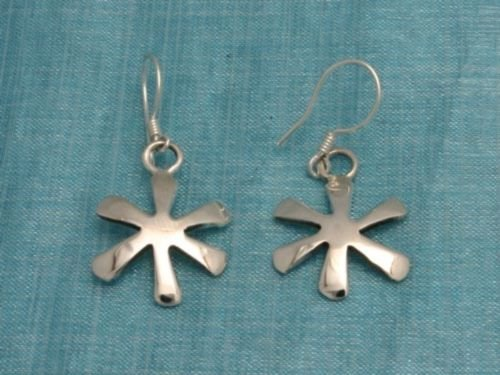 Sterling Silver Dangle Star Earrings Taxco Mexico .925
