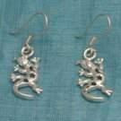 Mexican Sterling Silver Iguana Dangle Earrings Taxco