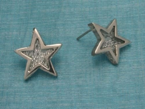 Sterling Silver Star Stud Earrings Taxco Mexico .925
