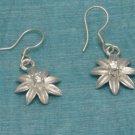 Sterling Silver Flower Dangle Earrings Taxco Mexico 925