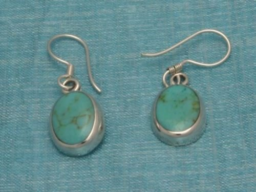 Sterling Silver Turquoise Earrings From Taxco Mexico