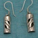 Sterling Silver Dangle Fish Design Earrings Taxco 925