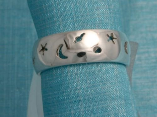 Sterling Silver COSMIC BAND Ring Taxco, Mexico 925