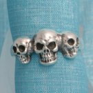 Sterling Silver Skulls Ring From Taxco, Mexico .925
