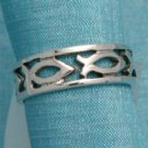 Sterling Silver Fish Deco Ring From Taxco, Mexico .925