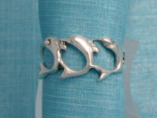 Sterling Silver Dolphin Ring .925 From Taxco, Mexico