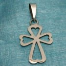 Sterling Silver Small Heart Cross Pendant .925 Taxco