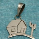 Sterling Silver Small House Pendant .925 Taxco Mexico