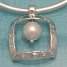 Sterling Silver Natural Pearl Pendant .925 Taxco Mx