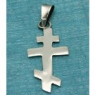 Sterling Silver Small Double Cross Pendant .925 Taxco