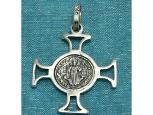 Sterling Silver Christian Cross Pendant .925 Taxco Mx