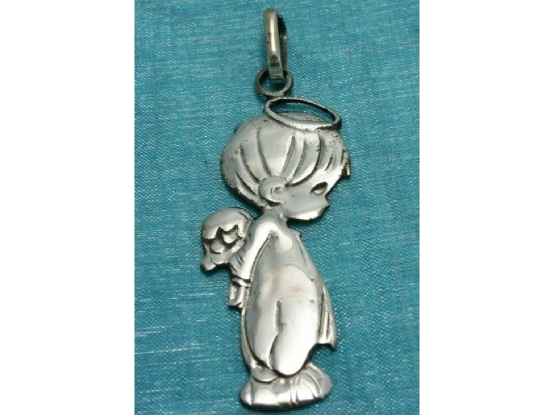 Sterling Silver Boy Angel Charm Pendant .925 Taxco