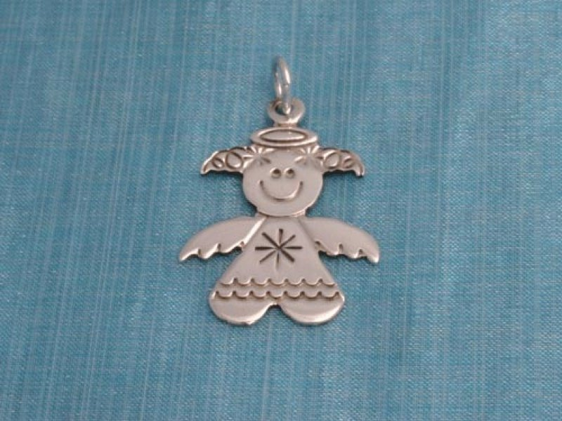 Sterling Silver Angel Charm Pendant .925 Taxco Mexico
