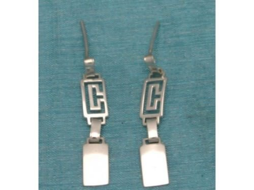 Sterling Silver Long Dangle Earrings From Taxco, Mexico