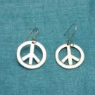 Mexican Sterling Silver Peace & Love Dangle Earrings