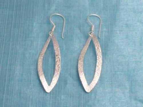 Sterling Silver Long Dangle Earrings From Taxco Mex 925